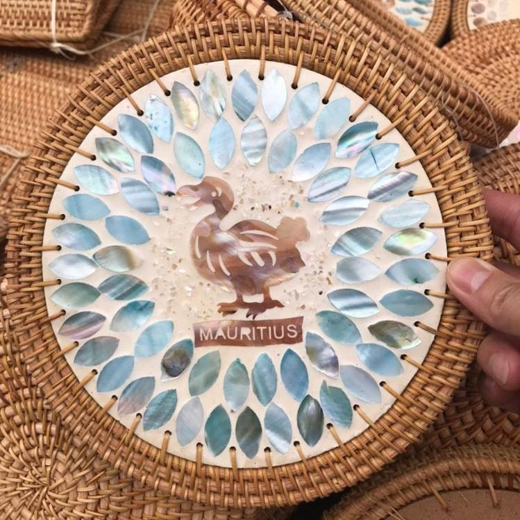 Cheap Wholesale Handmade Mother Pearl Rattan Place Mat Collection Unique From Vietnam