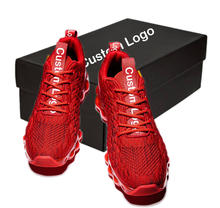 Latest Design Fashion Breathable Fly Knit Sports Shoes Casual Men Sneaker Running Shoes for Men
