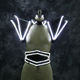 LED light up female singer stage costume Party nightclub show dance luminous waistband shoulder wear