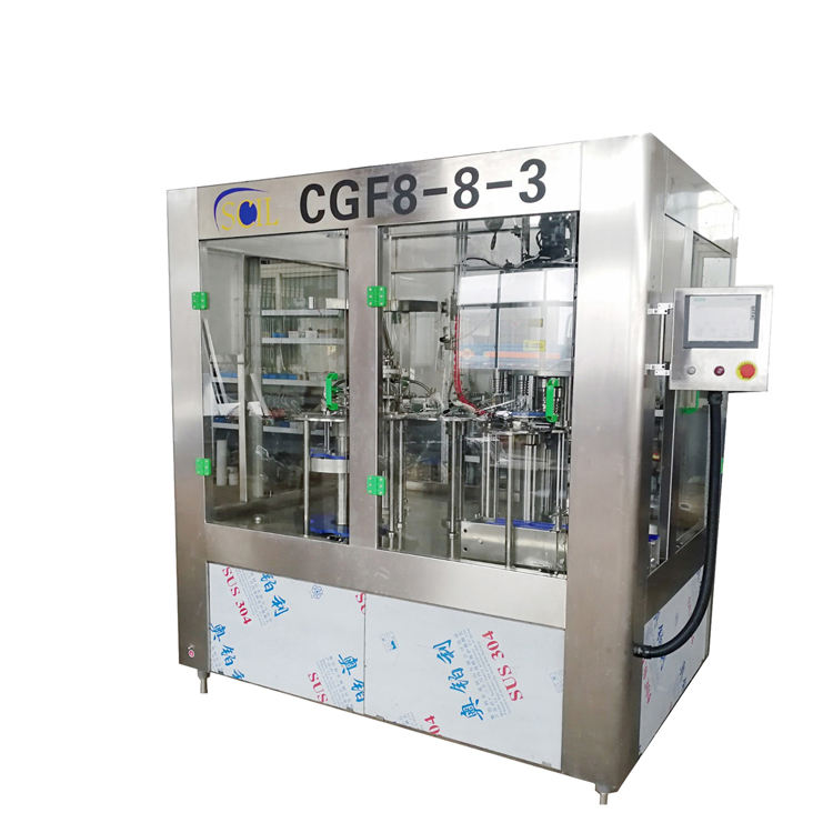 Centralized level Rotary pet bottle filling machine for 500ml flavored mineral water bottling