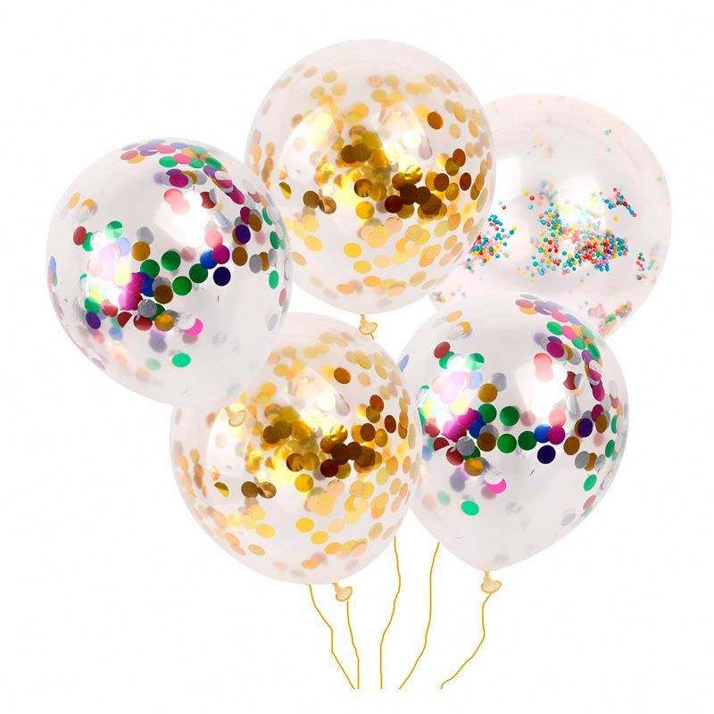 12 Inch Transparent Confetti Balloons For Wedding/ Birthday Party Decorations Round Balloons