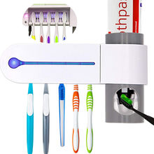Kills 99.9% disinfection Automatic Toothpaste Dispenser UV Toothbrush Sterilizer holder