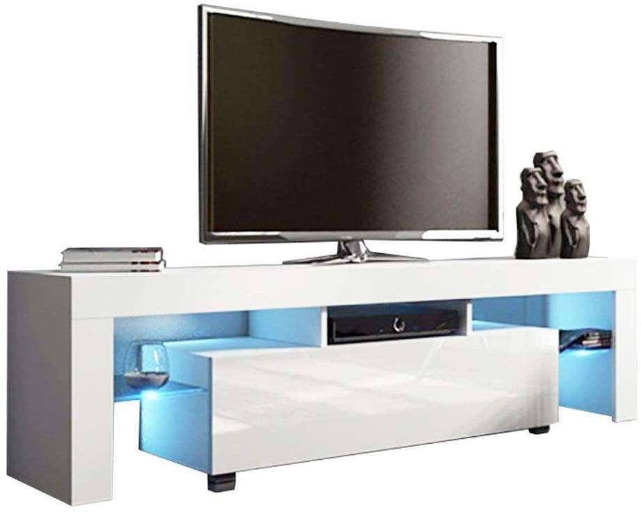 Modern TV Stand for living room TV Entertainment Center with LED