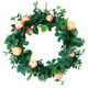 Hot Sale Natural Decorative 17in Vine Wreath Apple Wreath artificial autumn leaves wreath for decoration