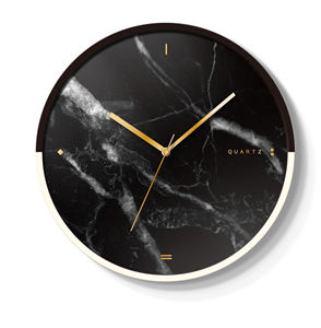 14 inch modern design assorted case marble dial metal wall clock for living room