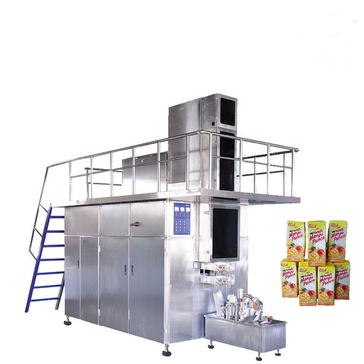 Aseptic Filling Machine Applied 250ml milk juice packing cartons making for sale