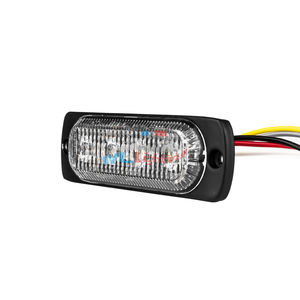 Light Grille Warning Lightbar 12V Car 24V Truck 4 Lamp LED Strobe Traffic Light