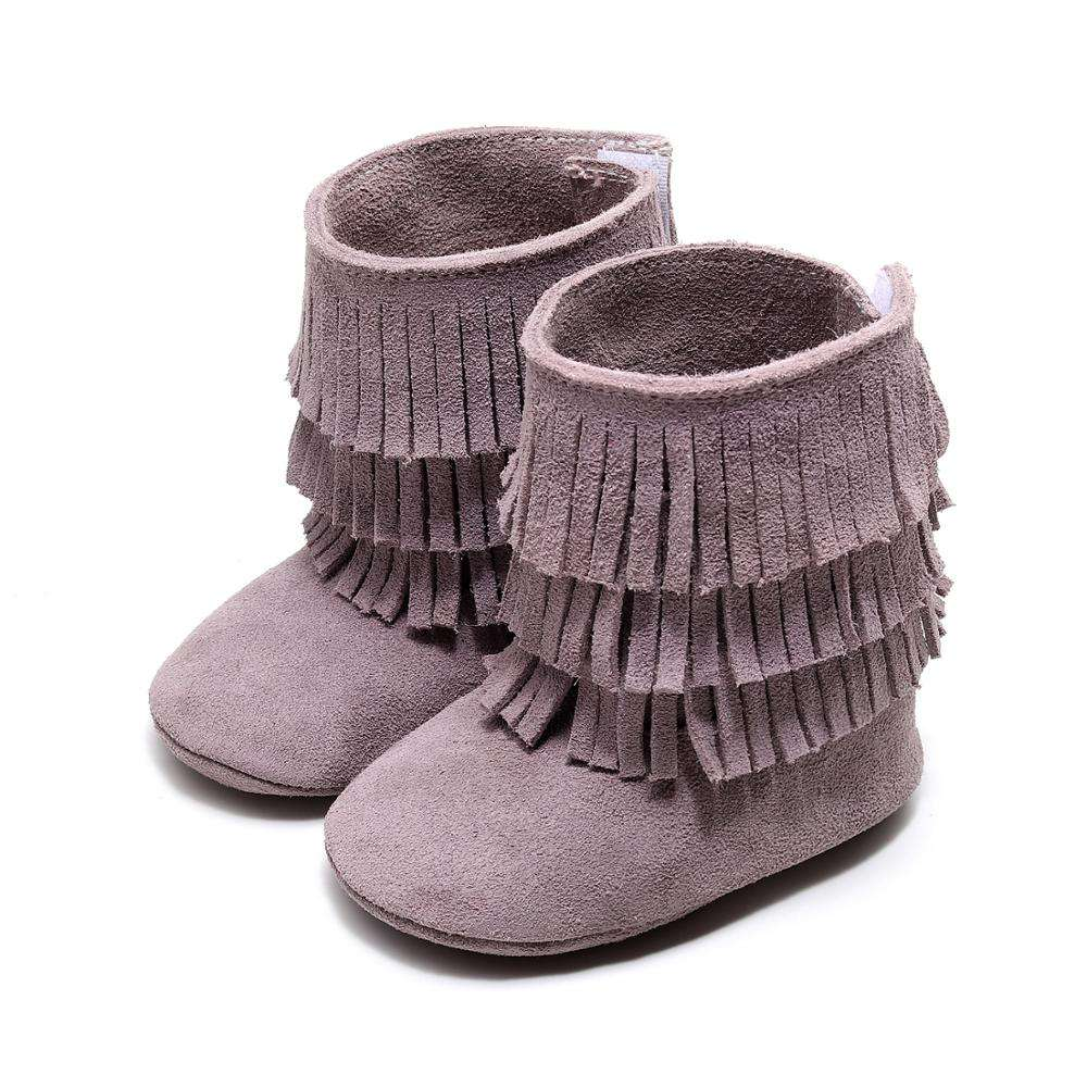 New Newborn Warm Boot Infant Baby Girls Boys Autumn Winter Boots Genuine Leather Toddler Boots Tassel Drop Shipping