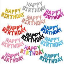"Hot selling high quality 16 inch ""HAPPY BIRTHDAY"" party letters alphabet foil helium balloons banner set"