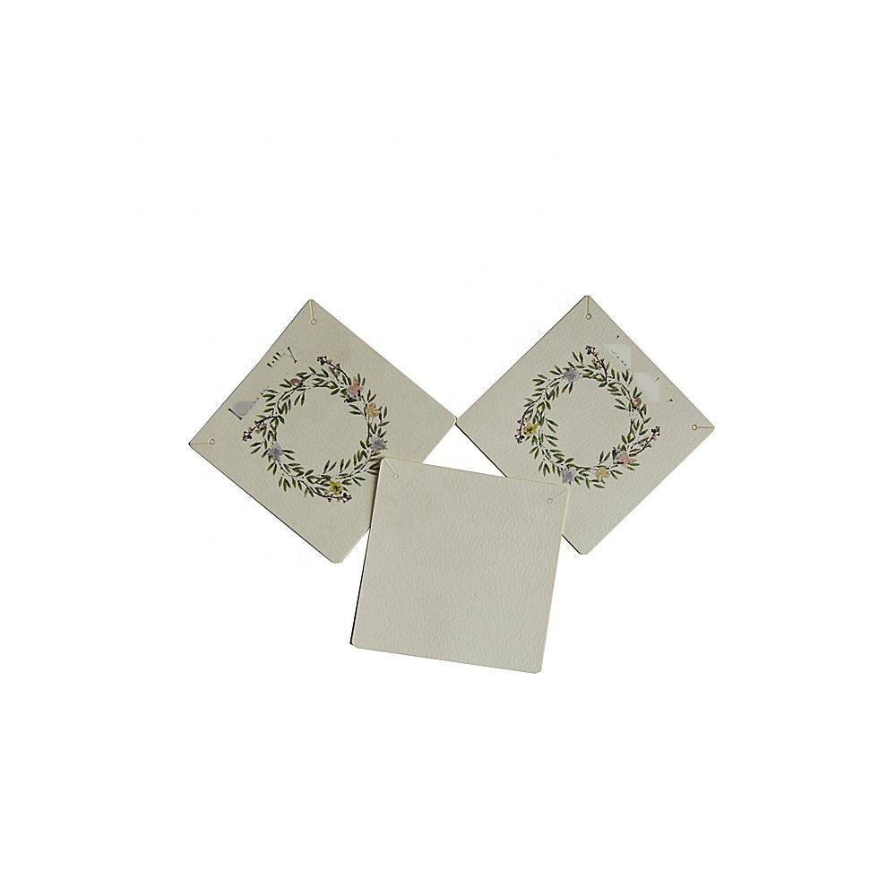 30PCs Paper Jewelry Necklace Earrings Display Card Rectangle White Black 90x60mm