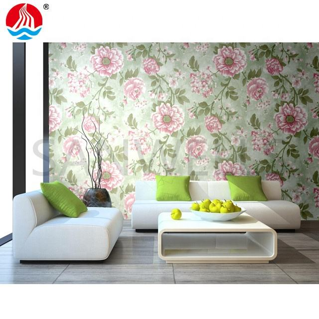 2020 new Factory supply 3d wall paper rolls home decoration Flower designs pvc self adhesive wallpaper