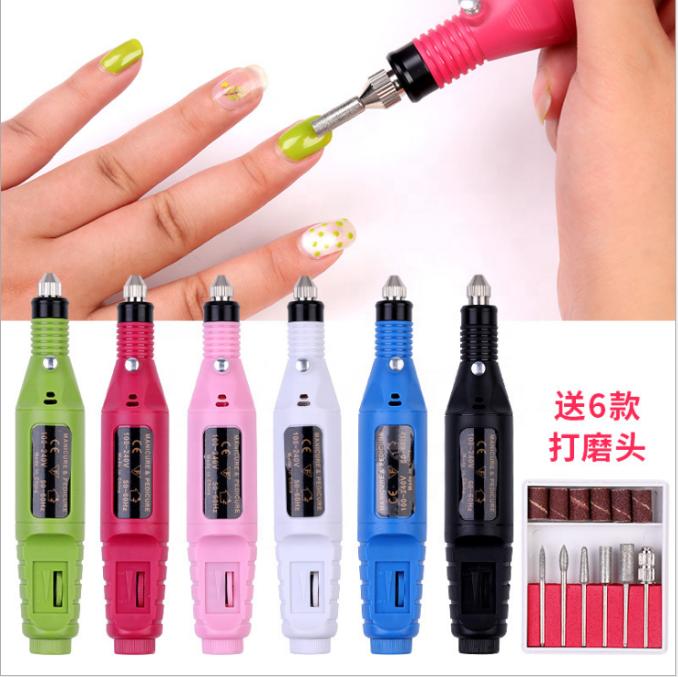 Wholesales Professional Salon low noise nail machine Mini Portable Rechargeable electric pen shape nail drill