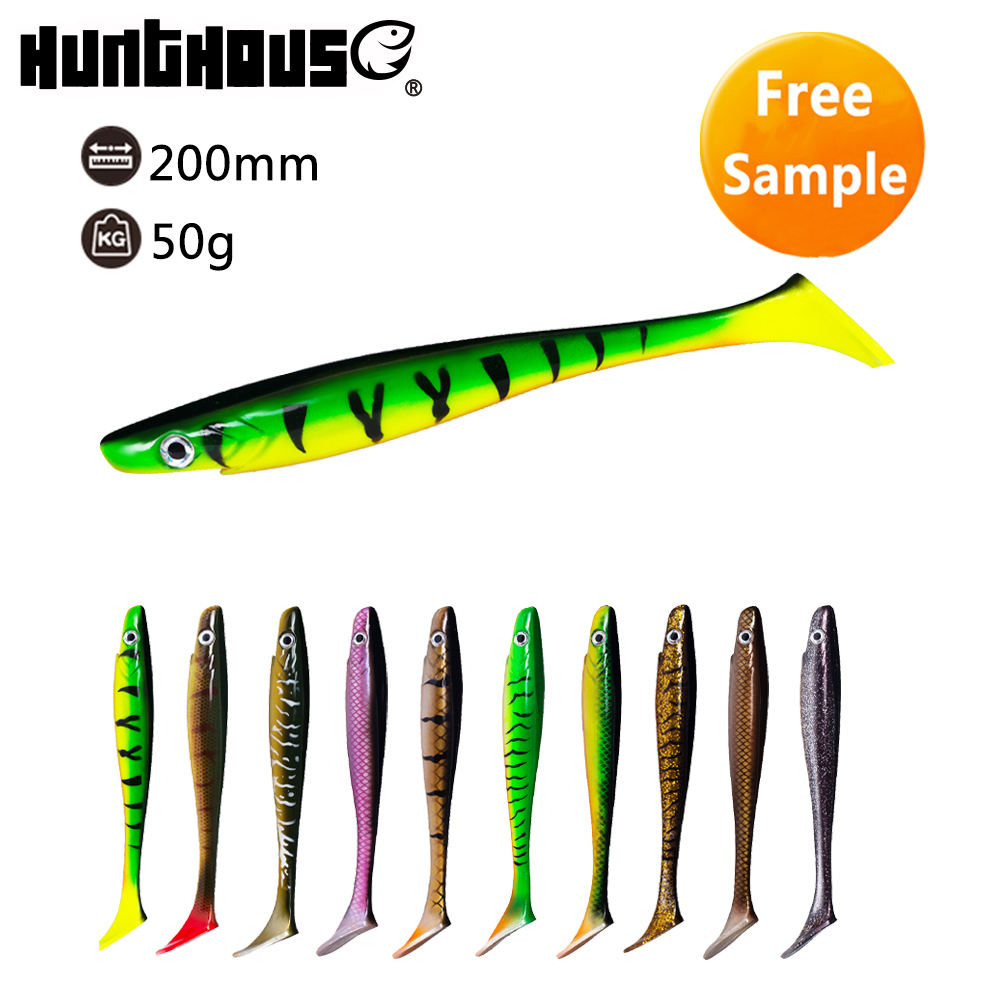 HuntHouse Big Realistic Fishing Bait Big Soft Plastic Lure Soft Shad Lure