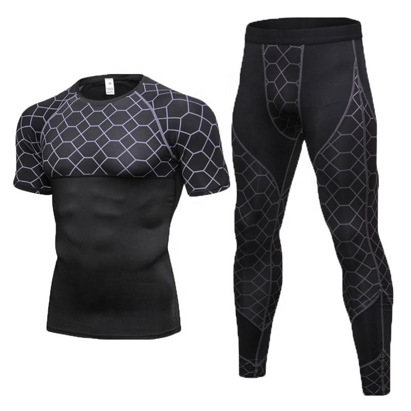 Summer new tracksuits for men fitness in factory price