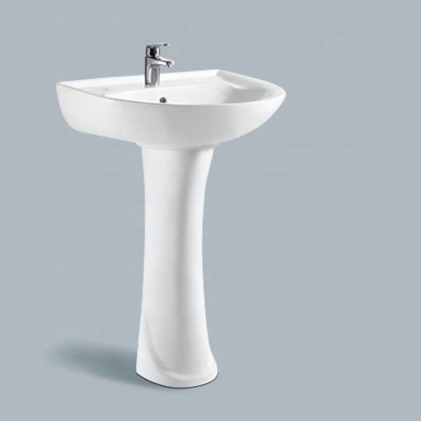 New Design Bathroom Free Standing Pedestal Wash Basin Sinks
