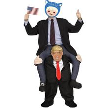 Halloween cosplay donal trump ride on costume for adult donal trump ride on costume