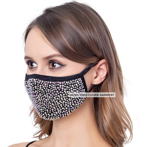 Face Cover Shield Anti Dust Reusable Dustproof rhinestone mask Masquerade Crystals Diamond Rhinestone Face Cover