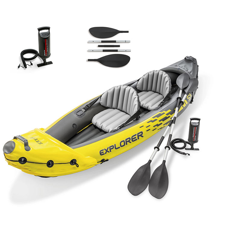 INTEX Explorer K2 Kayak 68307CC Original In Stock Available Paddle Rowing Boats 2 Person Durable 0.75mm PVC Inflatable