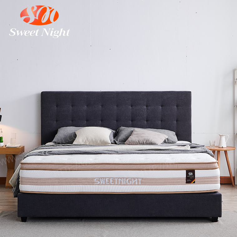 2020 Wholesale price hotel bedroom single bed spring foam mattress