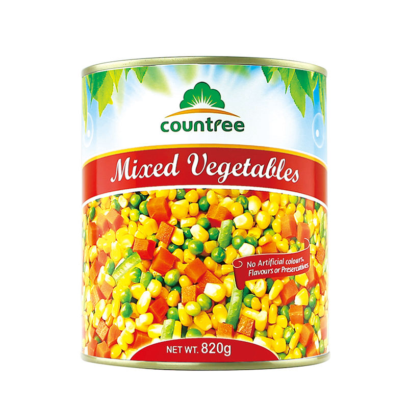 Countree Brand Canned Food Products Hot Sale Canned Mixed Vegetables In Brine