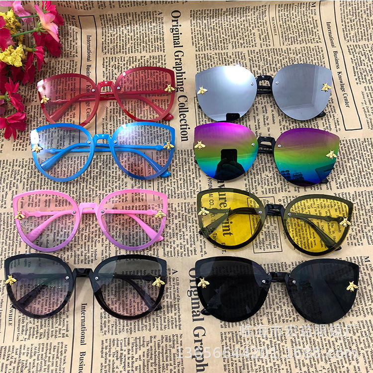 Queena Cute glasses Children Sunglasses Brand 2020 Kids Girls Boys Toddler Sun Glasses Pink Cat Eye Oculos De Sol Infa