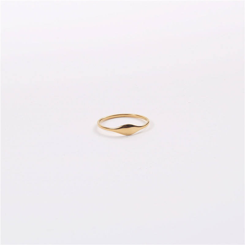 18K Gold Plated Irregular Stainless Steel Finger RingsためWomen Gold Jewelry 2020 Wholesale Pinky Rings