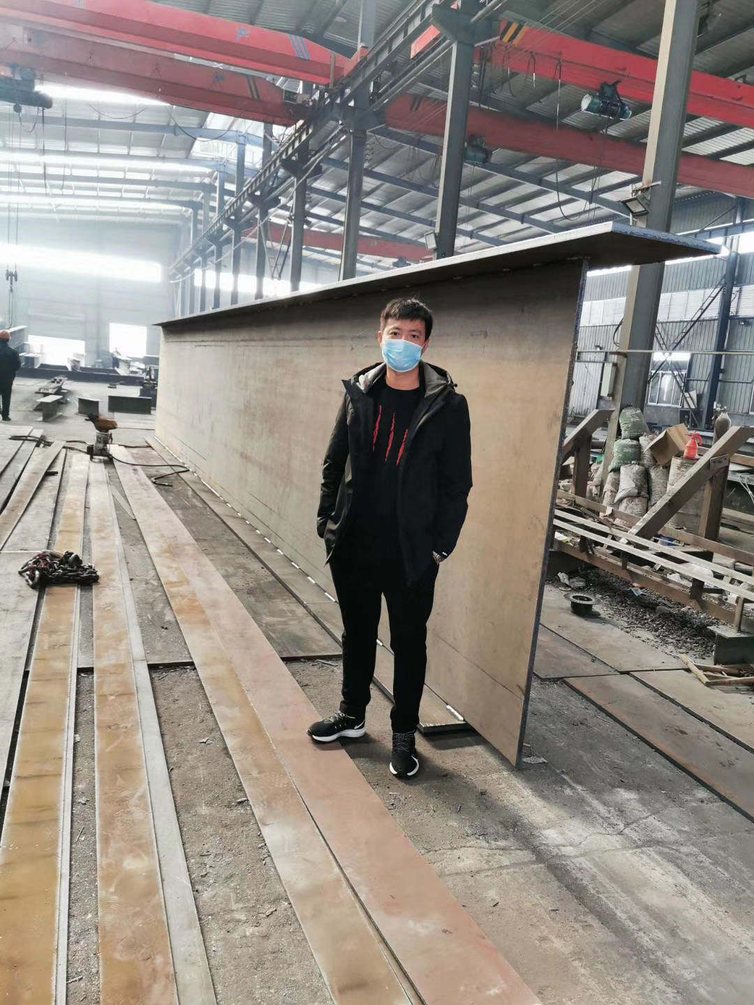 Prefabricated steel structure building beam or steel fabrication beam