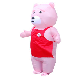 funny Halloween inflatable teddy bear cosplay costume inflatable walking teddy bear mascot costumes for adult children
