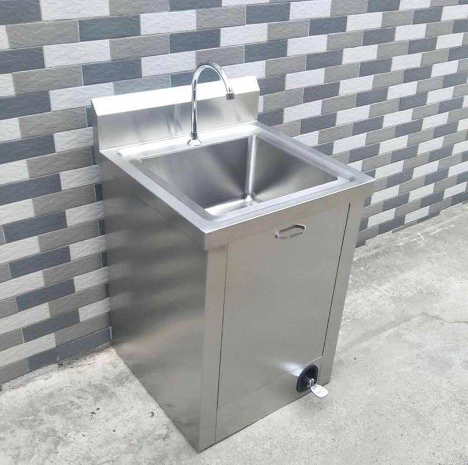 Stainless Steel Single Person Medical Washing Sink