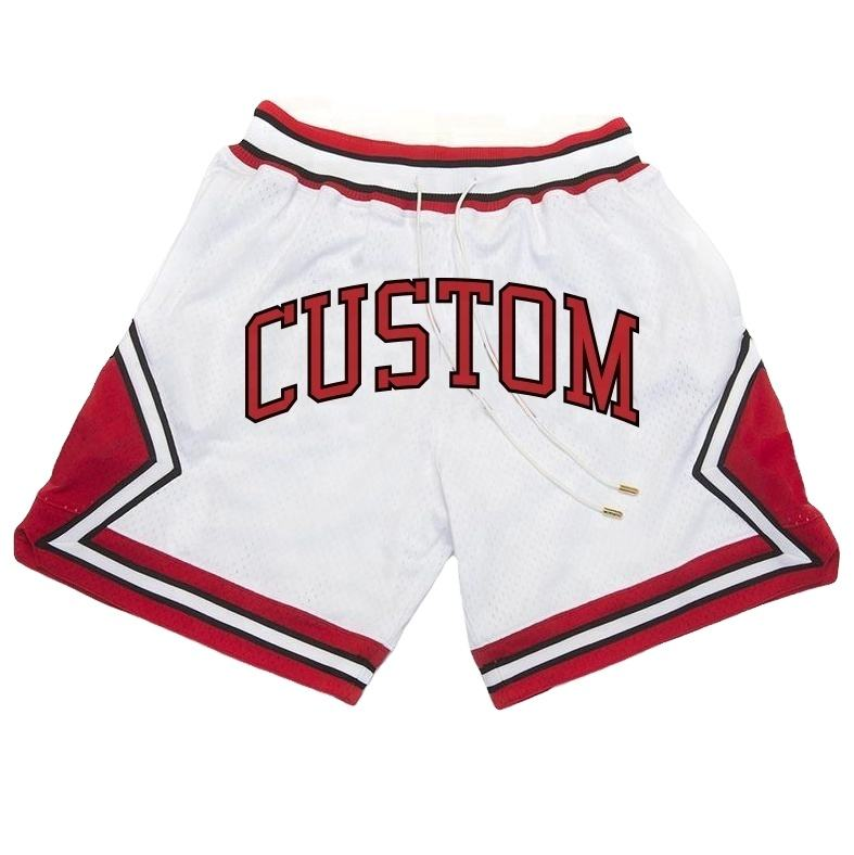 Factory direct sales summer cool breathable custom loose embroidery man basketball shorts