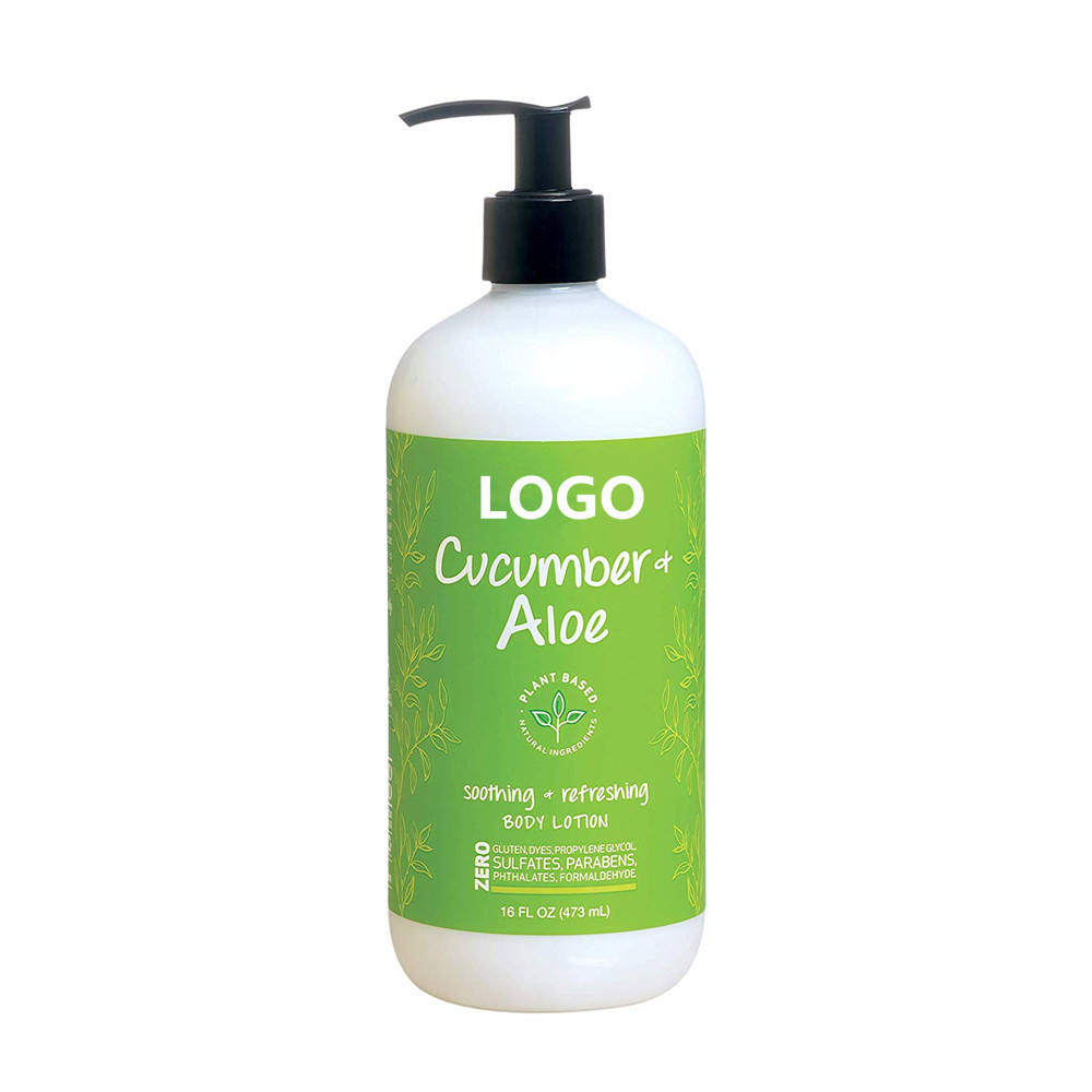 OEM Wholesale Organic Cucumber Aloe Soothing Body Lotion