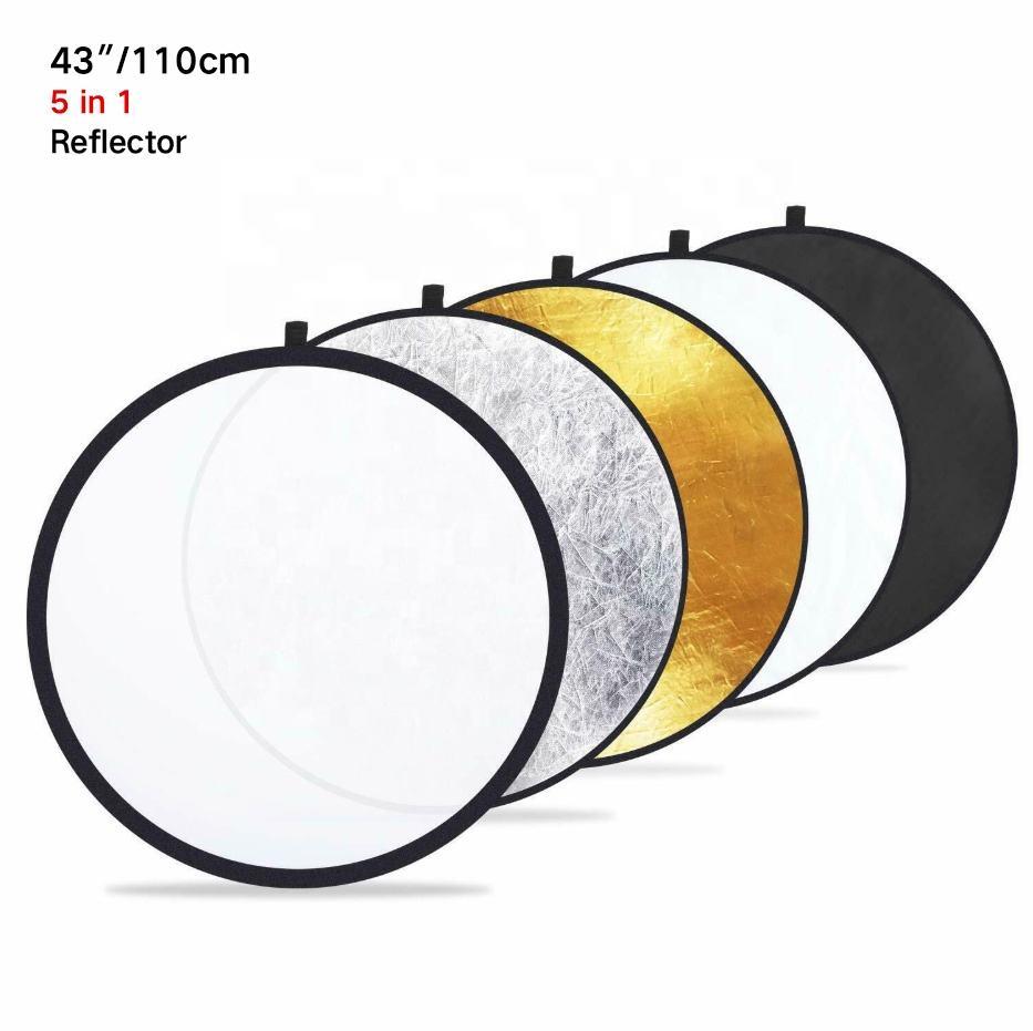 Fan-Shaped Folding Reflector Board Camera Accessories 2 in 1 Silver//White Size: 20.0 x 18.5 x 10.5 cm Strobe Accessories