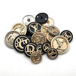 Zine-alloy coat windbreaker buttons for  women's outerwear suits with woollen buttons round, versatile, western-style button