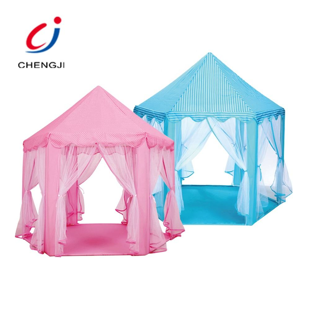 Wholesale portable folding indoor outdoor playhouse toy princess castle play tent