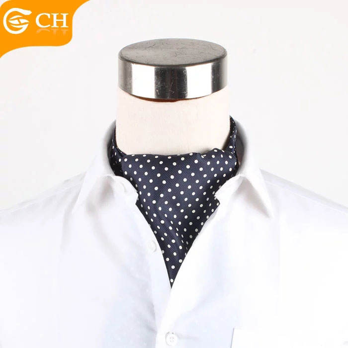 Wholesale Polka Dot Pattern 100% Silk Woven Mens Cravats For Sale