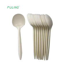 eco friendly fda approved plant cornstarch tea soup spoon biodegradable cutlery disposable