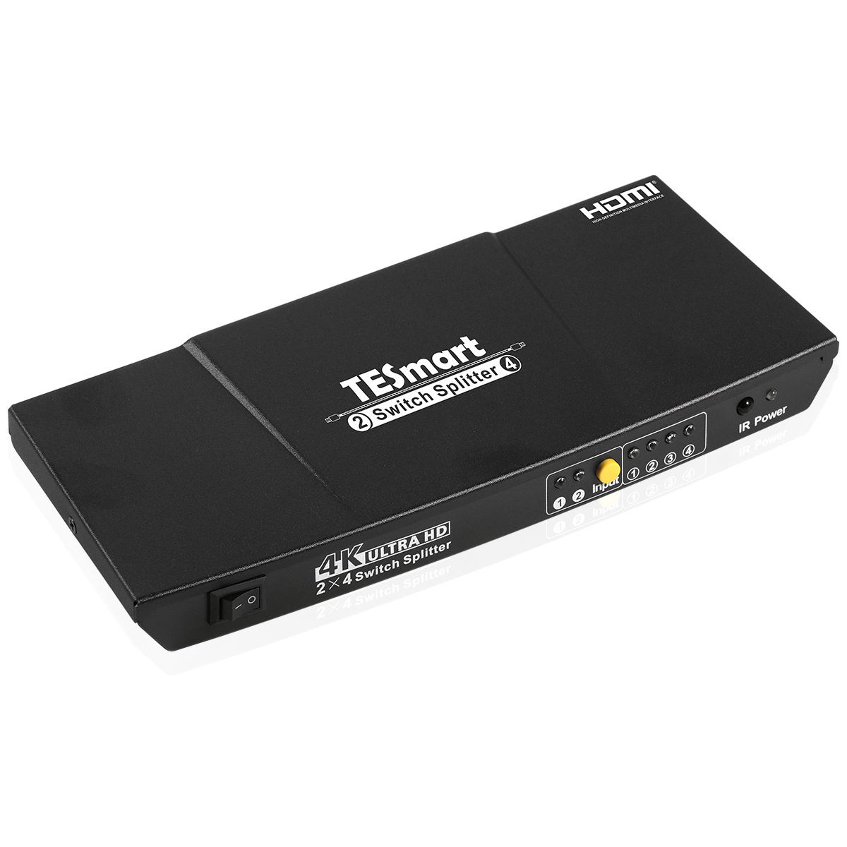 4K 2 in 4 out HDMI Switch Splitter 2x4 Con <span class=keywords><strong>HD</strong></span> Video Splitter