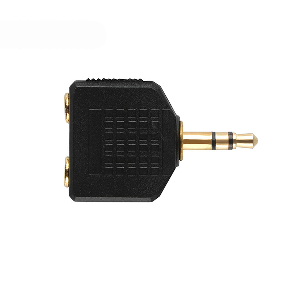 Gold plated 3.5mm 3 pole Male plug to Female jack Headphone Splitter 1 to 2 Stereo Dual Track earphone 3.5 Audio Adapter
