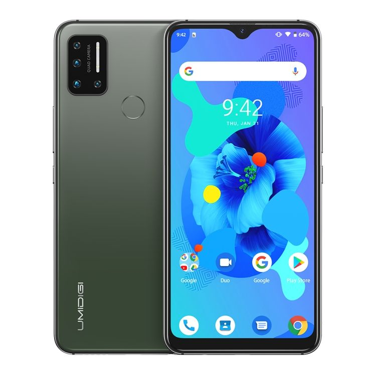 1% OFF UMIDIGI A7, 4GB+64GB, 4150mAh Battery, 6.49 inch Android 10, Mediatek Helio P20 Octa Core up to 2.3GHz 4G, OTG (Green)