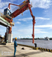 Manufacturing Plant Container Quayside Pneumatic Cement 1600t/h Container Grab Ship Unloader