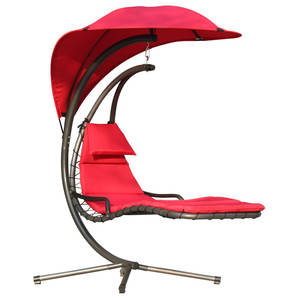 Opknoping Chaise Lounger Stoel Arc Stand Patio Volwassen Hangmat Swing Lounge Stoel