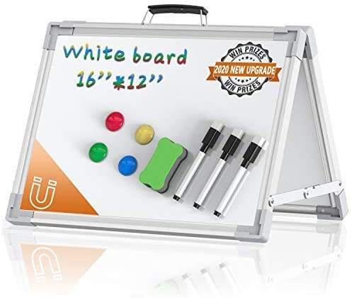 Desktop Foldable Portable Mini Double Sided Small Dry Erase Magnetic Erase White Board Whiteboard for Home Office