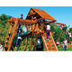 Customized fine quality obstacle adventure outdoor playground wood equipment wooden playset