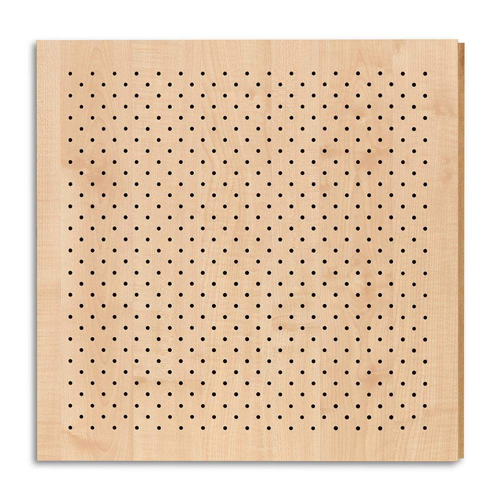 Perforated wooden acoustic panel for soundproof and sound absorption
