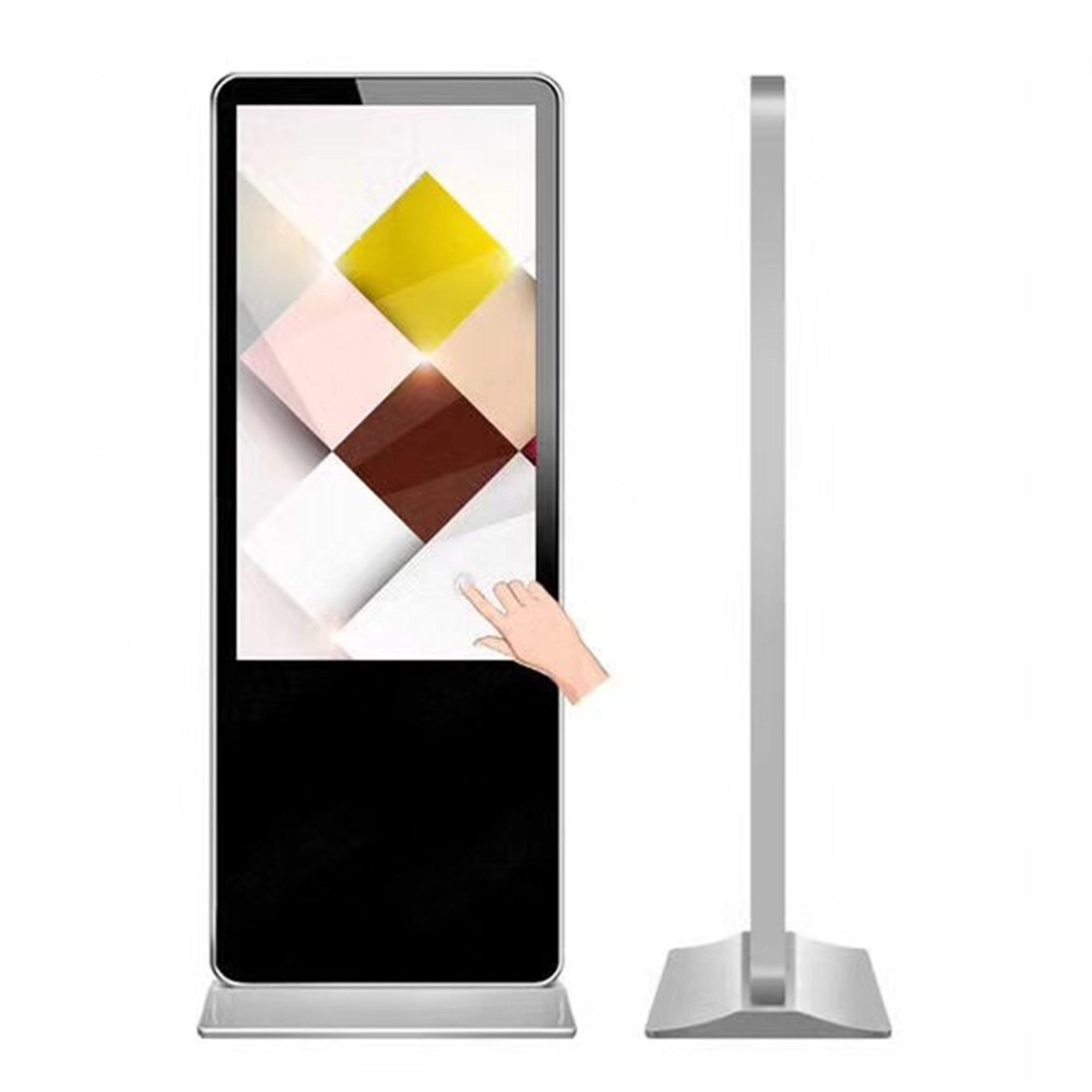 55inch digital signage software management player display stands