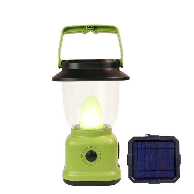Solar Camping Light OEM Portable Rechargeable Camping Light Solar Charging Lighting Camp With Power Bank Outdoor Foldable Camping Lantern Light