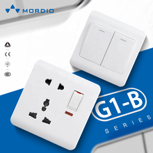 Bristol British electric wall switch and socket 16A+13A power plug 2usb outlets double pole WENZHOU China OEM