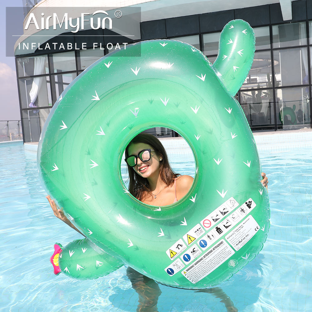 Airmyfun High Quality PVC Inflatable Cactus Swim Pool Float Ring For Adult