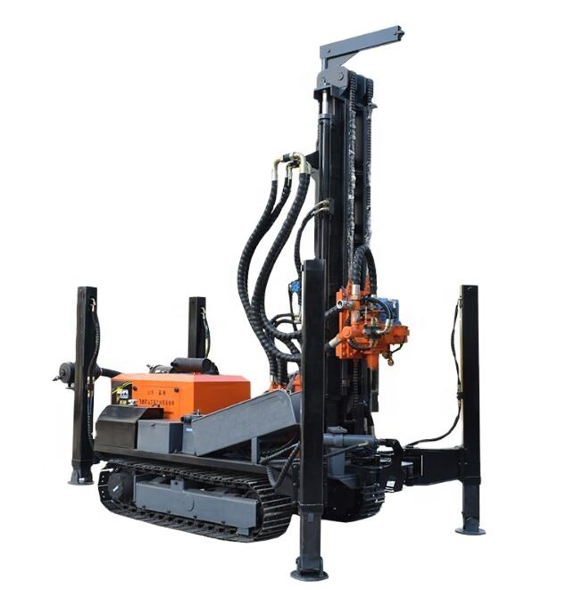 6inch 200m depth borehole diameter portable rotary DTH water well drilling rig machine price