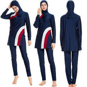 winying Girls 2PCS Modest Burkini Swimsuit Hijab Long Sleeves Hooded Top with Full Length Pants Bathing Suit Set